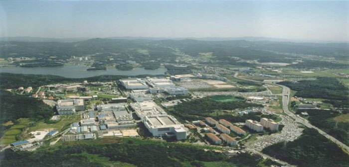 Panoramic view of Samsung Electronics' semiconductor production facilities in Giheung